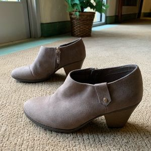 Taupe Suede Ankle Booties